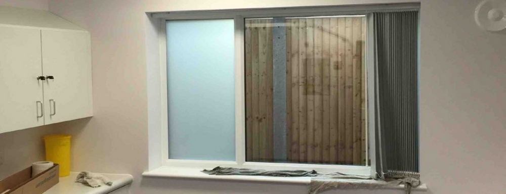 Frosted Window Film  Commercial Installation & Supply